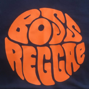 BOSS REGGAE (round) T-SHIRT NAVY & ORANGE